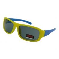 Okulary przeciwsłoneczne chłopięce UV 400, ŻÓŁTO-NIEBIESKIE