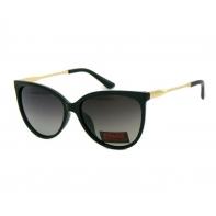 Okulary przeciwsłoneczne damskie POLARYZACYJNE UV 400, CZARNY + ZŁOTY