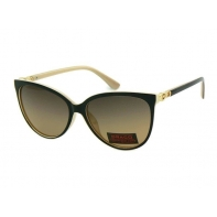 Okulary przeciwsłoneczne damskie POLARYZACYJNE UV 400 CZARNY + KREMOWY