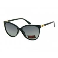 Okulary przeciwsłoneczne damskie POLARYZACYJNE UV 400, CZARNE