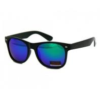 Okulary przeciwsłoneczne męskie UV 400 NERDY CZARNE + niebieski