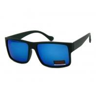 Okulary przeciwsłoneczne męskie UV 400, CZARNE + NIEBIESKIE
