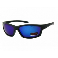 Okulary przeciwsłoneczne męskie UV 400, CZARNE niebieskie lustrzanki