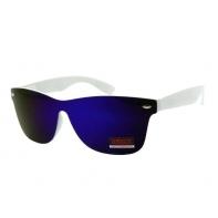 Okulary przeciwsłoneczne męskie UV 400, NERDY BIAŁO-NIEBIESKIE
