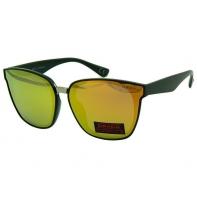 Okulary przeciwsłoneczne damskie POLARYZACJA UV, czarny + pomarańczowy