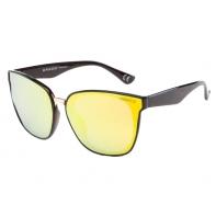 Okulary przeciwsłoneczne damskie POLARYZACJA UV, brązowo-żółte