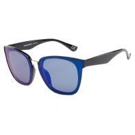 Okulary przeciwsłoneczne damskie POLARYZACJA UV, czarno-granatowe