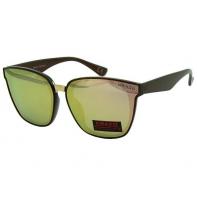 Okulary przeciwsłoneczne damskie POLARYZACJA UV, brązowo-różowe