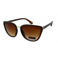 Okulary przeciwsłoneczne damskie UV, CIENIOWANE brązowe MATOWE