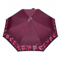 Automatyczna parasolka damska marki Parasol, bordowa w róże