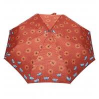 Automatyczna parasolka damska marki Parasol, brązowa w dmuchawce