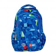 Dwukomorowy plecak szkolny St.Right 19 L, KLOCKI BP26
