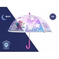Parasolka dziecięca przezroczysta, jednorożec