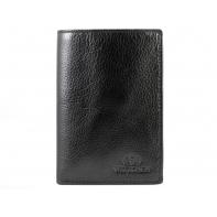 Klasyczny portfel męski Wittchen, kolekcja Italy, czarny