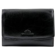 Skórzany damski portfel/portmonetka Wittchen, kolekcja Italy, czarny