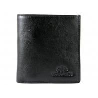 Mały skórzany portfel Wittchen, RFID kolekcja Italy, czarny