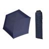 Wytrzymała PŁASKA parasolka Doppler Carbonsteel, GRANATOWA w kropki