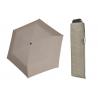 Wytrzymała PŁASKA parasolka Doppler Carbonsteel, SZARA w kropki