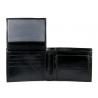 Męski skórzany zestaw: PORTFEL+ PASEK 130 cm Pierre Cardin, czarny