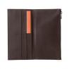 SUPER cienki skórzany portfel meski DuDu® Zip-It, 597-661 BRĄZOWY