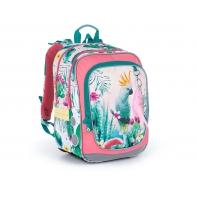 Plecak dwukomorowy dla dziewczynki Topgal ENDY 21002 PAPUGA