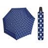 Automatyczna MOCNA parasolka damska Doppler Derby granatowa w grochy