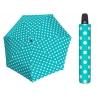 Automatyczna MOCNA parasolka damska Doppler Derby turkusowa w grochy