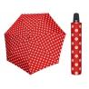 Automatyczna MOCNA parasolka damska Doppler Derby czerwona w grochy