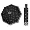 Mocna AUTOMATYCZNA damska parasolka Doppler, czarna w biały wzór