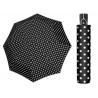 Mocna AUTOMATYCZNA damska parasolka Doppler, czarna w białe grochy