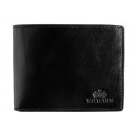Skórzany klasyczny portfel męski Wittchen, kolekcja Italy, czarny
