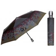 Automatyczna parasolka damska marki Parasol, ciemnoszara w romby