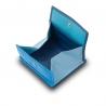 Skórzany mały portfel damski marki DuDu®, niebieski