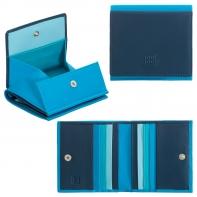 Mały skórzany portfel damski marki DuDu®, niebieski
