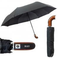 Automatyczny parasol męski z elegancką rączką BLUE RAIN RB-258