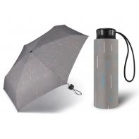 Kieszonkowa, ultra mini parasolka Happy Rain 16 cm, szara