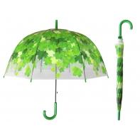 Przezroczysta parasolka w czerwone liście