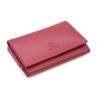Portfel damski Orsatti w kolorze czerwonym, bogate wyposażenie, skóra