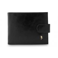 e9906c615a3efb Męski poziomy portfel Puccini P20439 w kolorze czarnym z zapięciem