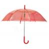 Parasolka przezroczysta czerwona