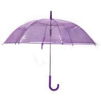 Przezroczysta parasolka fioletowa