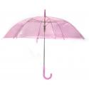 Parasolka przezroczysta różowa