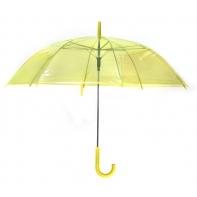 Parasolka przezroczysta żółta