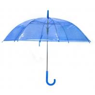 Parasolka przezroczysta niebieska