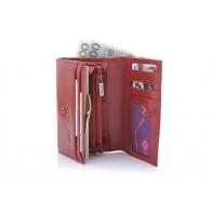 Klasyczny portfel damski Puccini P1959 w kolorze czerwonym