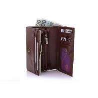 Klasyczny portfel damski Puccini P1959 w kolorze brązowym