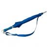 Niebieska parasolka z regulowanym paskiem na ramię