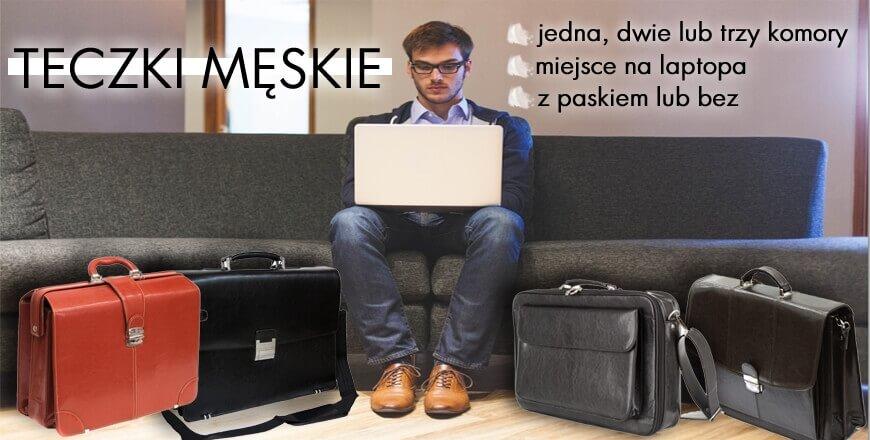 teczki męskie, torby na laptopa